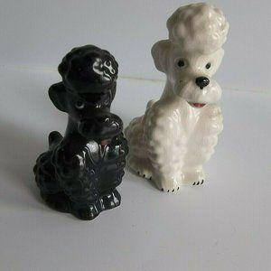 Goebel Poodle Dog Figurines Black White KT160